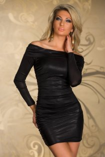 Elegant Black Off Shoulder Club Dress