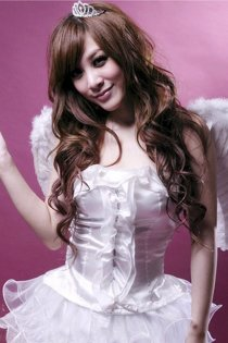Lovely Angelic Costume with Layered Ruffle Skirt