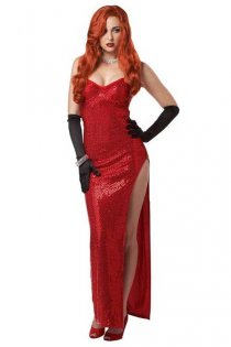 Stunningly Sexy Hot Red Floor Length Gown