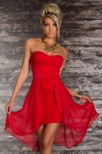 Wonderful Ethereal Sleeveless Red Colored High-low Dress
