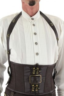 Men's Halter Steampunk Waist Training Corset