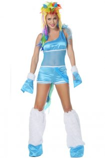 Cheeky Russian Fantasy Pony Costume With Multiple Colored Hair Piece