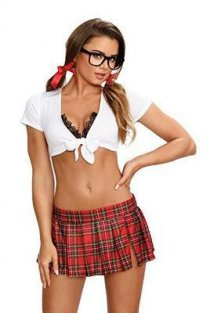 Split sexy wrapped chest sexy student girl costume temptation uniforms underwear