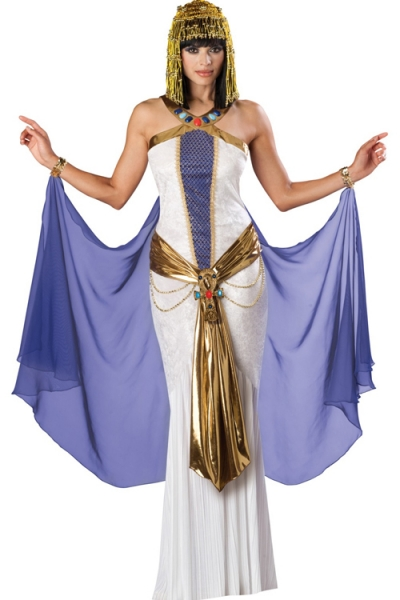 Exotic Egyptian Queen Style Glossy White Long Gown Sparkling Silk Gold Sequence Sheer Purple Accents